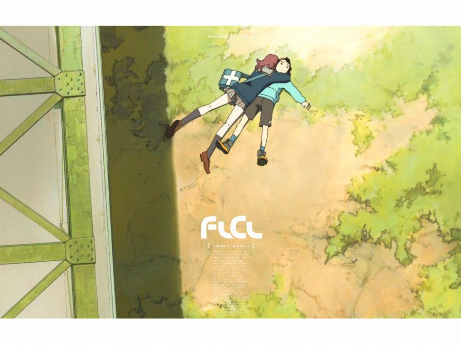 FLCL Fooly Cooly school uniforms sailor uniforms Nandaba Naota Samejima Mamimi wallpaper