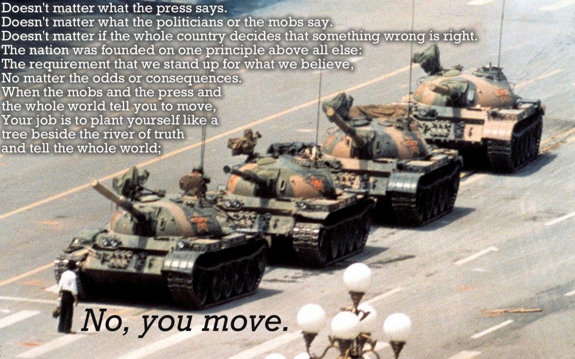 Captain America quotes Tiananmen Square wallpaper
