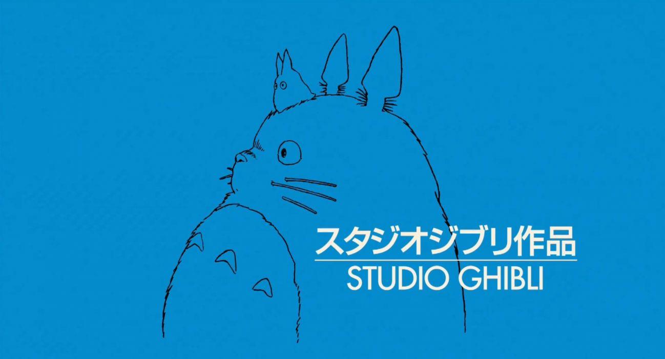 cartoons Hayao Miyazaki Totoro My Neighbour Totoro Studio Ghibli anime manga simple background wallpaper