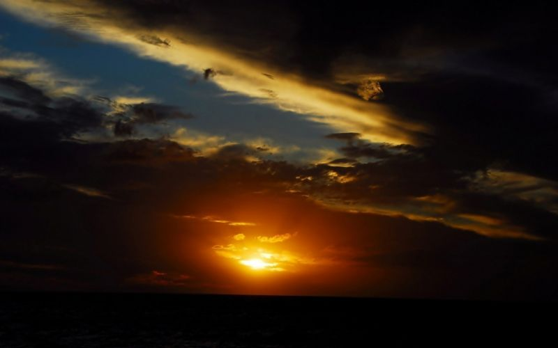 sunset clouds landscapes nature skyscapes wallpaper