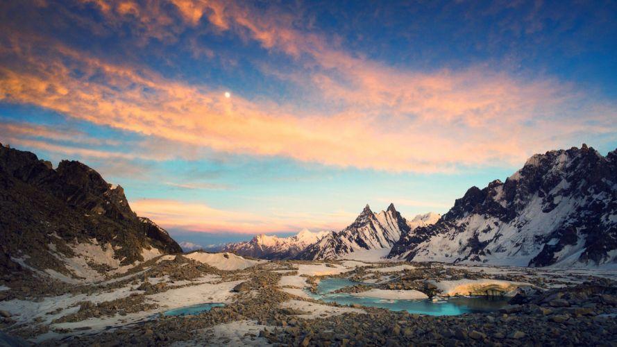 mountains skies wallpaper