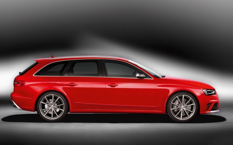 red cars avant vehicles sports cars Audi RS4 wallpaper