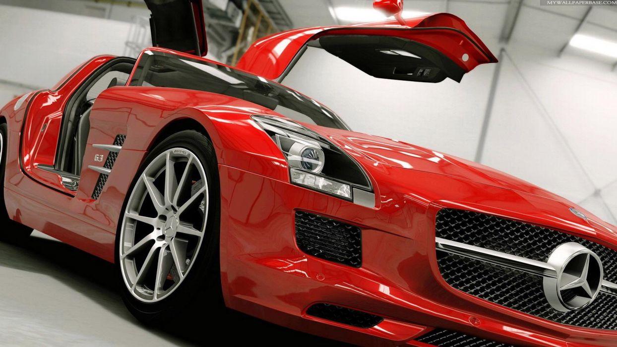 cars vehicles wheels Mercedes-Benz SLS AMG automobiles wallpaper