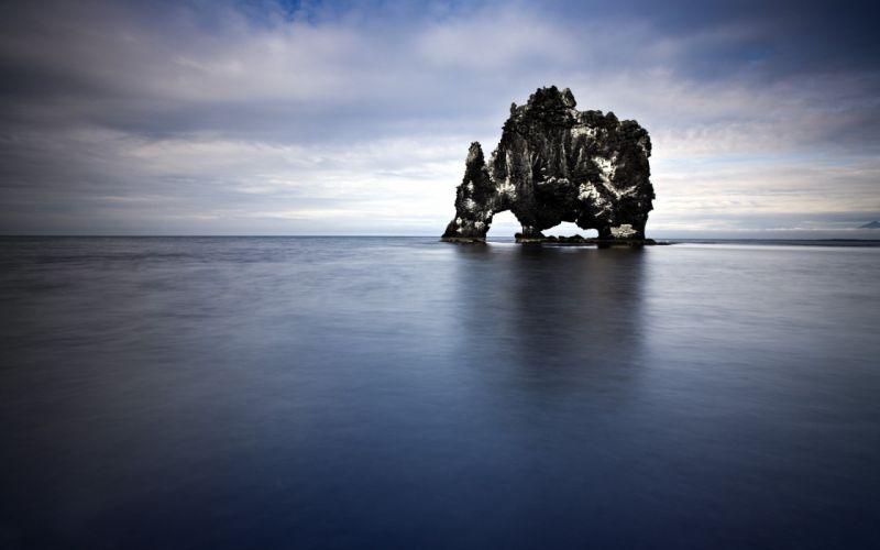 nature rocks sky sea wallpaper