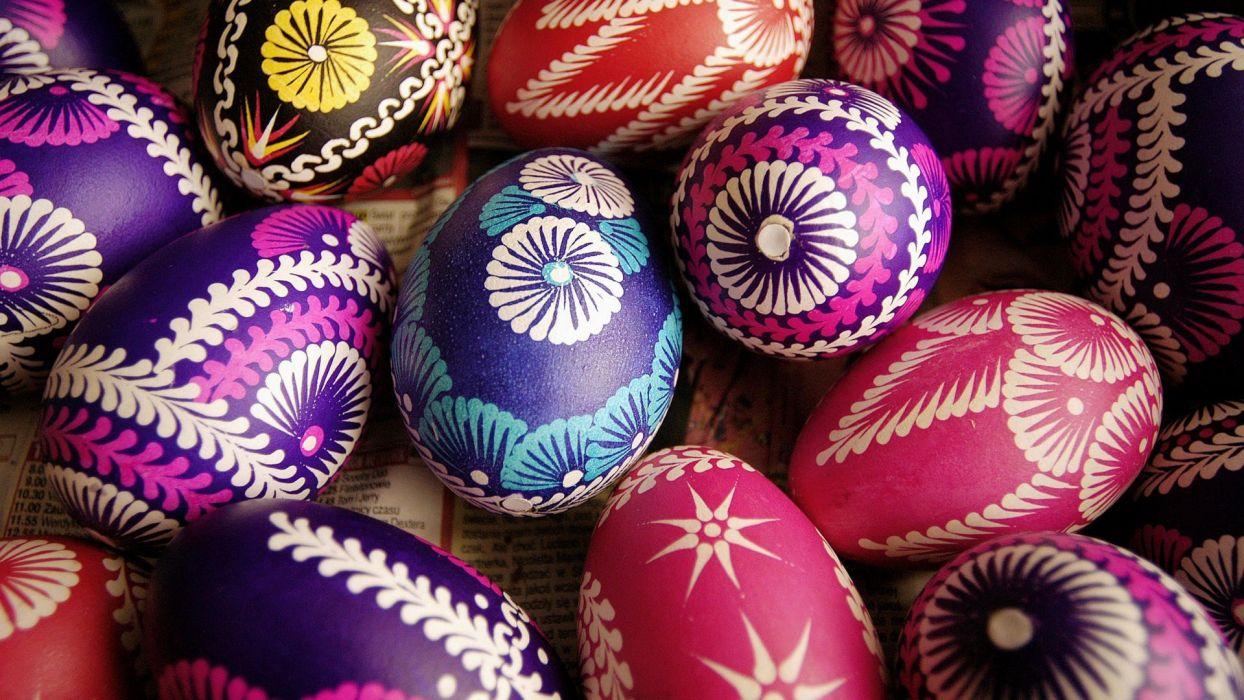Poland easter eggs wallpaper