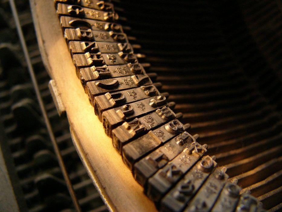 macro typewriters wallpaper
