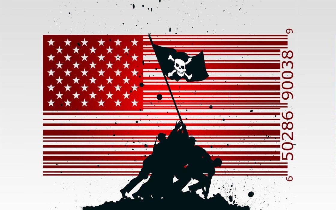 flags piracy barcode wallpaper