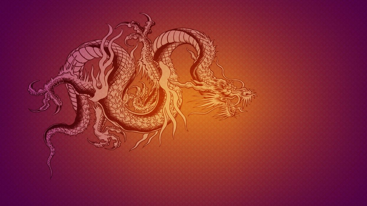 dragons oriental wallpaper