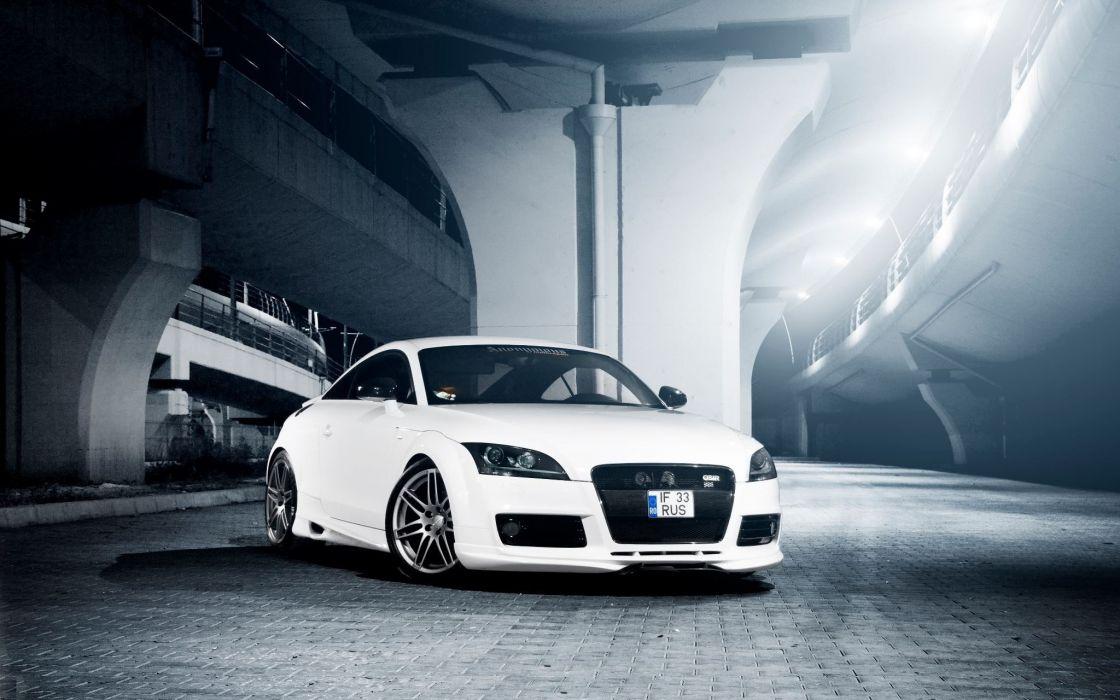 dark white Audi Audi TT RS wallpaper