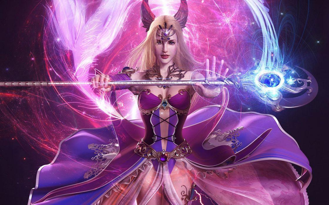 fantasy art digital art Soa Lee sceptres wallpaper