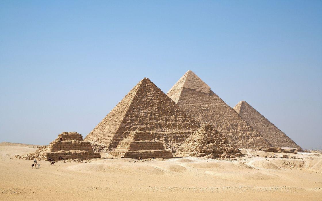 deserts Egypt pyramids Great Pyramid of Giza wallpaper