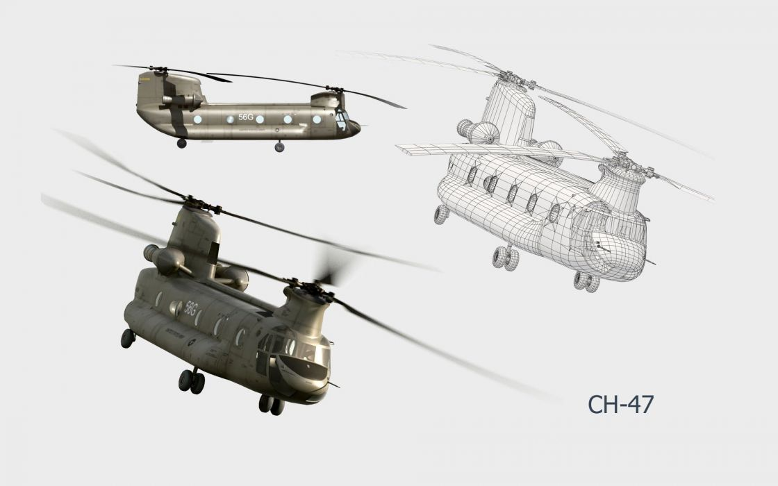 aircraft military CH-47 Chinook aviation wallpaper