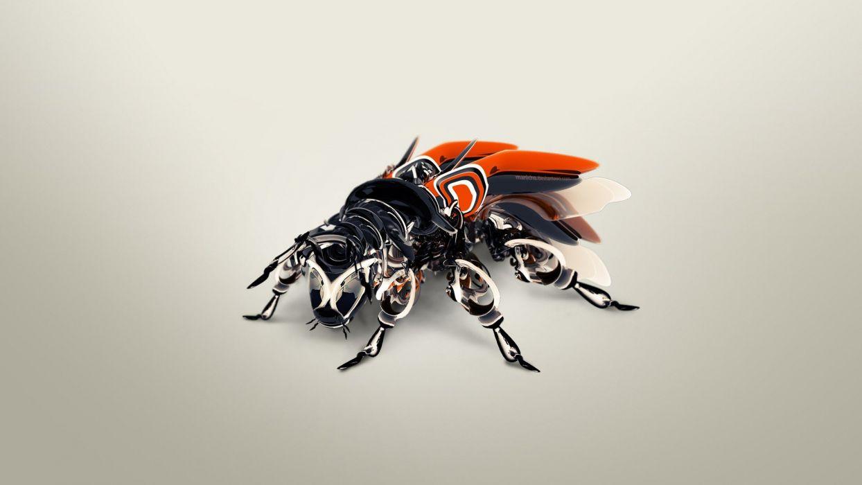illustrations mechanical digital art bees photo manipulation wallpaper
