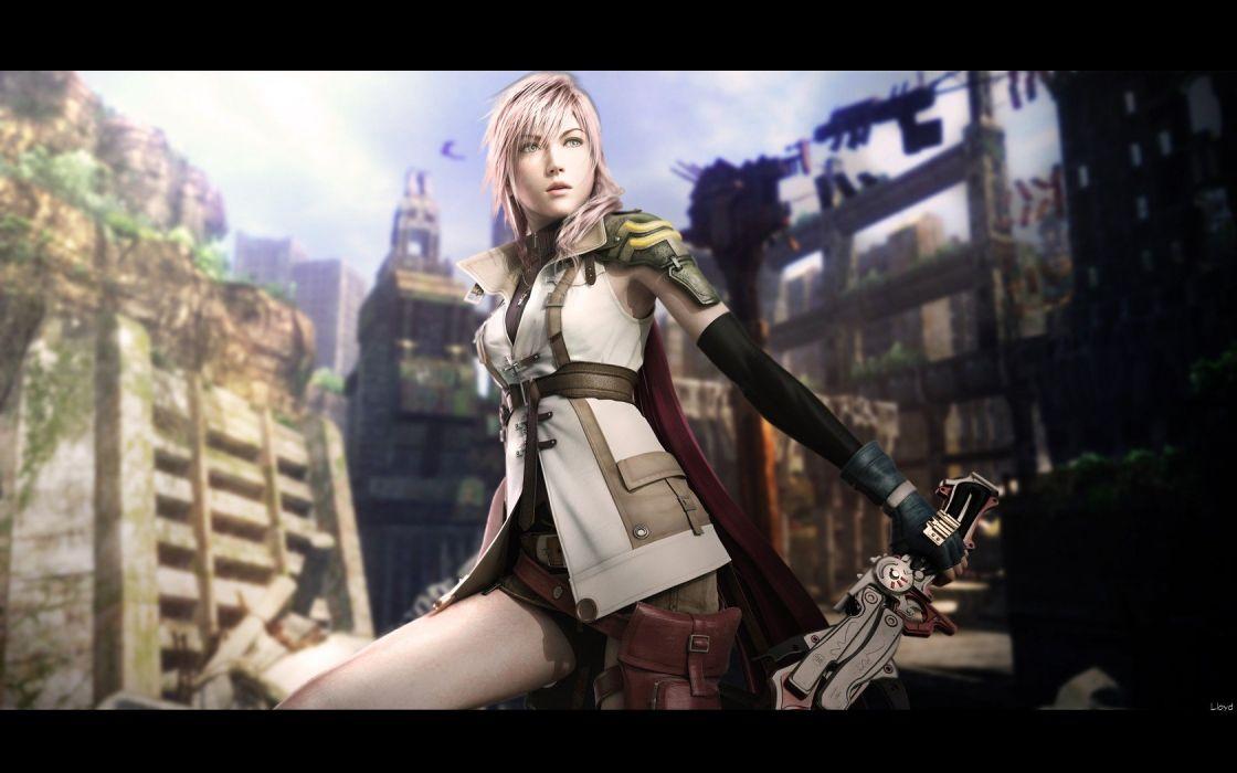 Final Fantasy video games Final Fantasy XIII Claire Farron wallpaper
