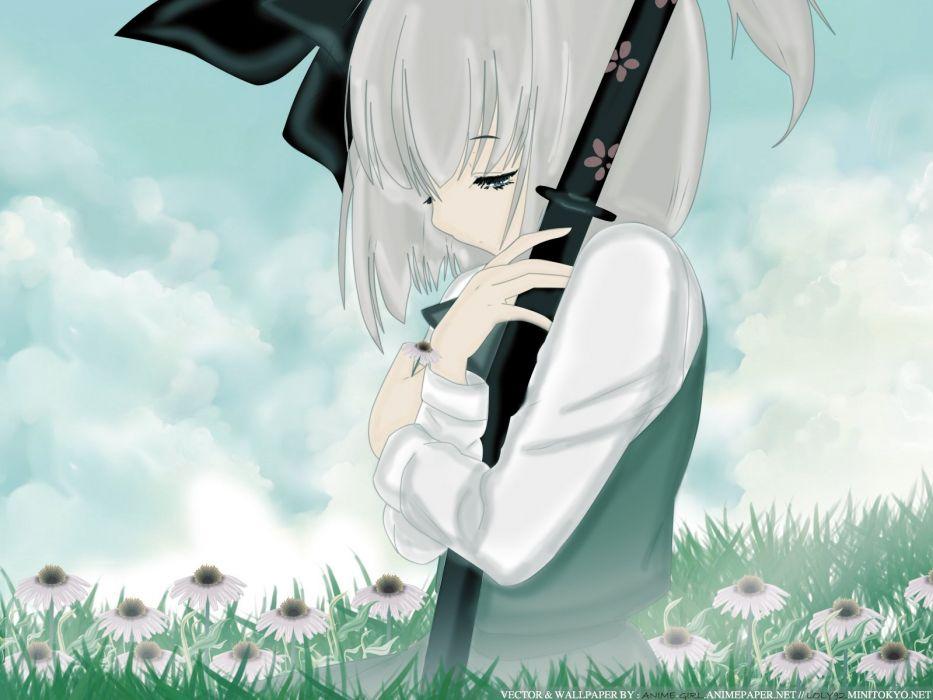 Touhou Konpaku Youmu anime wallpaper