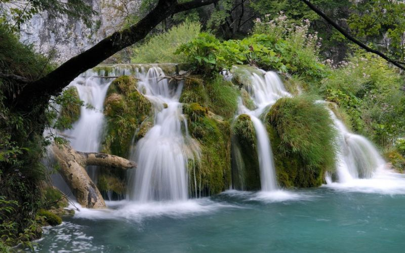 landscapes nature Croatia lakes National Park wallpaper