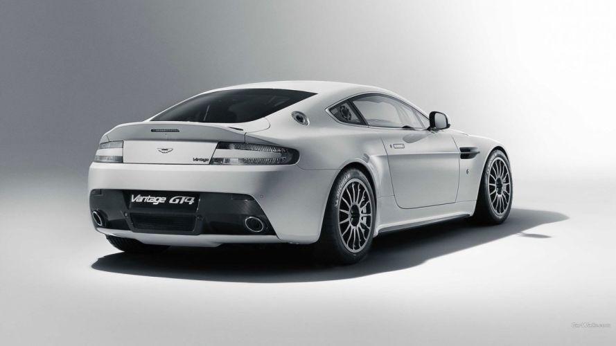 white cars Aston Martin Vantage-GT4 wallpaper