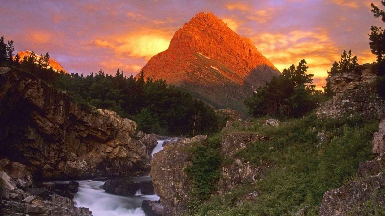 point falls glacier National Park wallpaper
