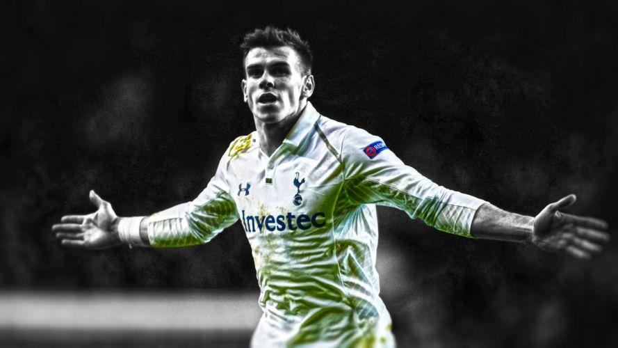 soccer hay HDR photography Tottenham Gareth Bale cutout Tottenham Hotspurs FC Europa League football player gareth spurs wallpaper