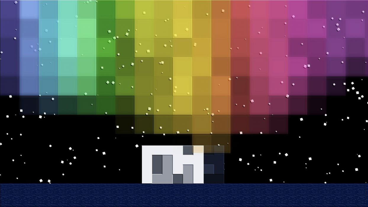 aurora borealis Minecraft wallpaper