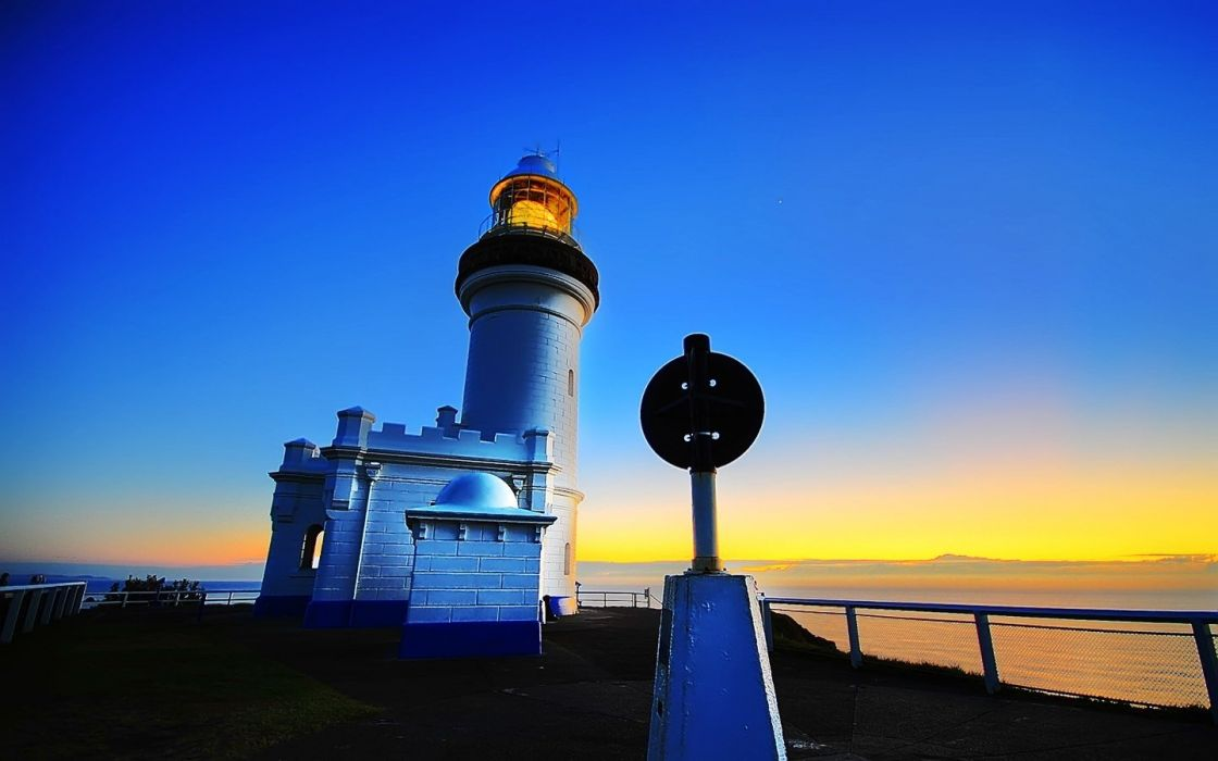 light lighthouses Sydney cities symbols wallpaper