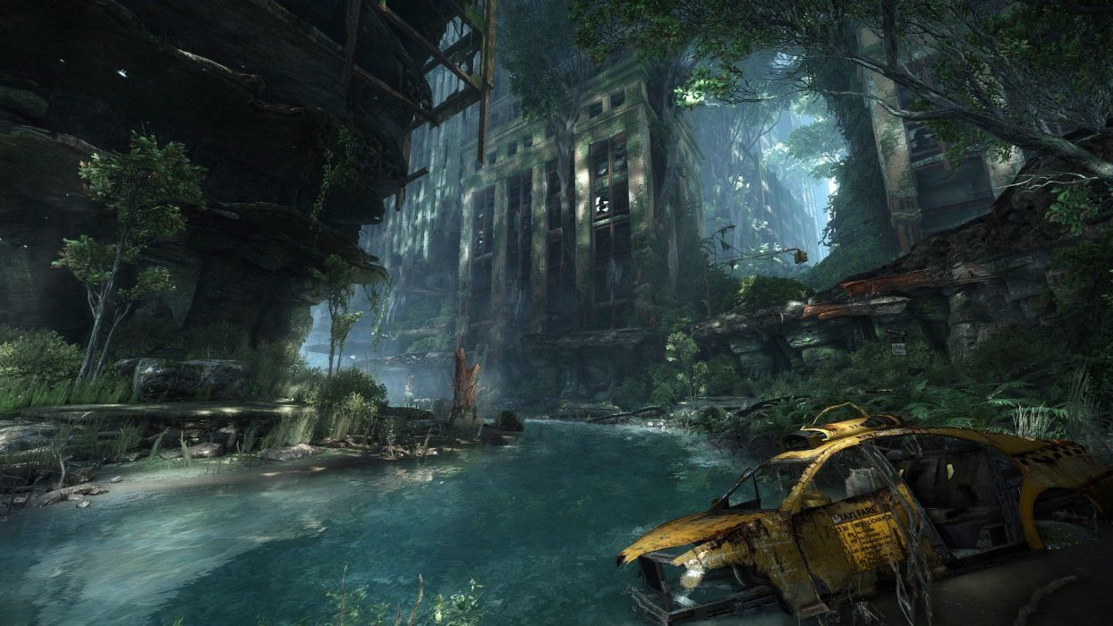 Crysis 3 2013 Video Game 4k Hd Desktop Wallpaper For 4k: Water Video Games Crysis Destroyed Abandoned City
