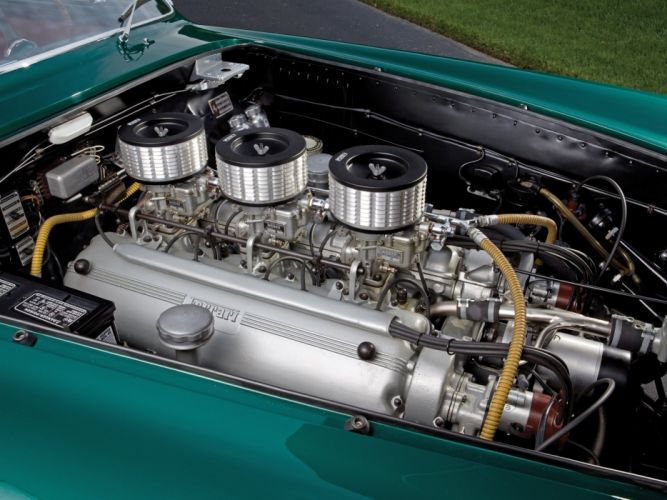 1953 Ferrari 250 Europa retro supercar engine h wallpaper