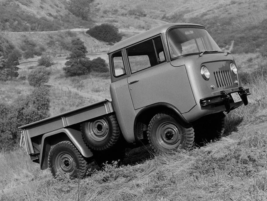 1957 Willys Jeep FC-150 4x4 pickup offrosd military (3) wallpaper