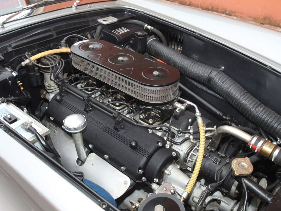 1958-59 Ferrari 250 G-T Cabriolet Series-I retro supercar engine    f wallpaper