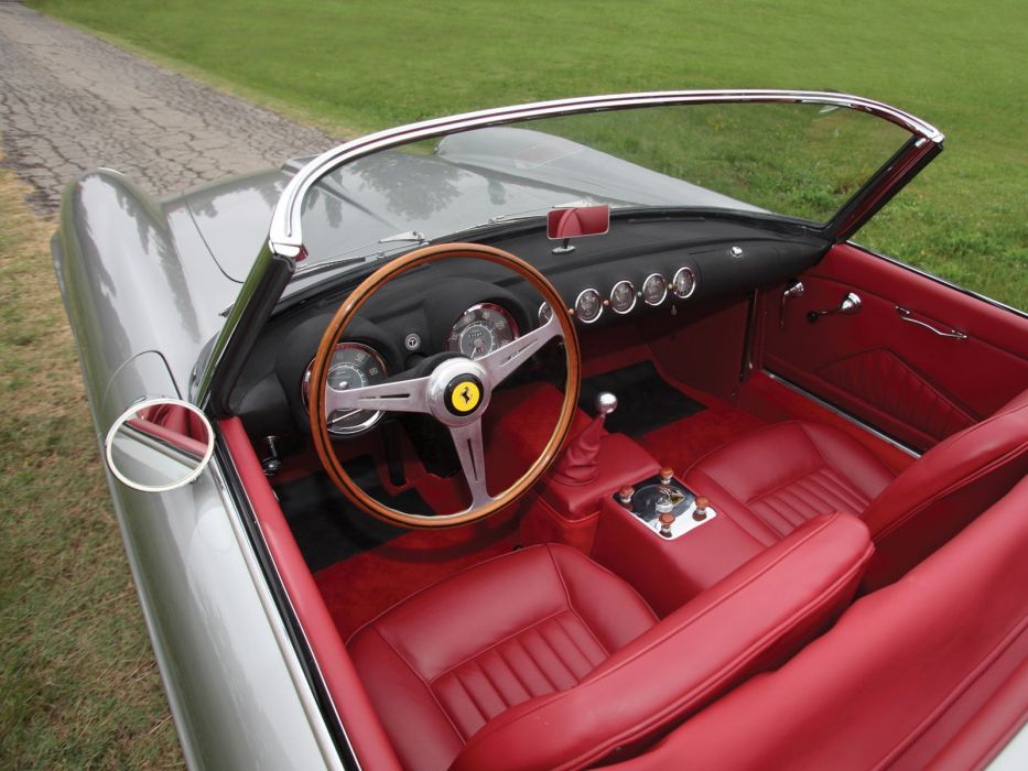 1958-59 Ferrari 250 G-T Cabriolet Series-I retro supercar interior   d wallpaper