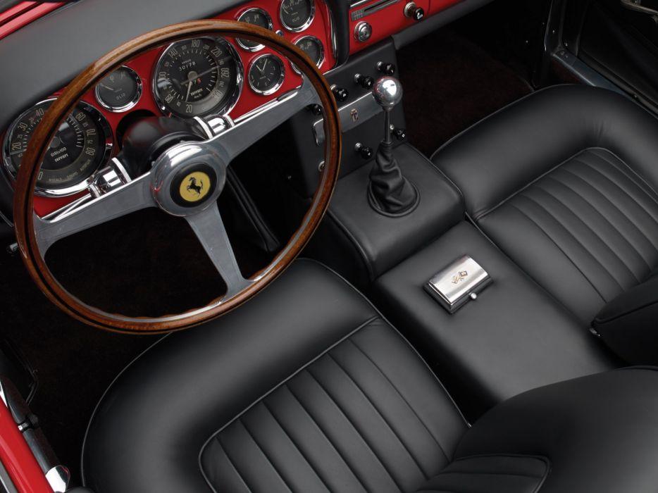 1959-62 Ferrari 250 G-T Cabriolet Series-II retro classic supercar interior  d wallpaper