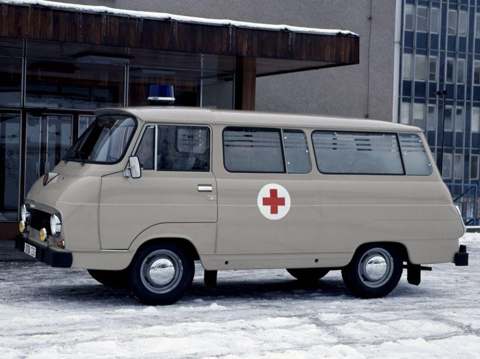 1961 Skoda 1203 Ambulance 997 emergency van classic     g wallpaper