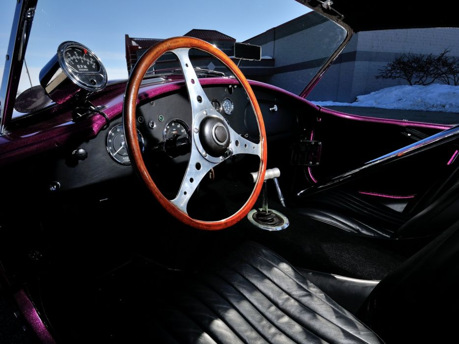 1963 Shelby Cobra Coupe Dragon Snake ford drag racing race hot rod rods muscle classic interior   f wallpaper
