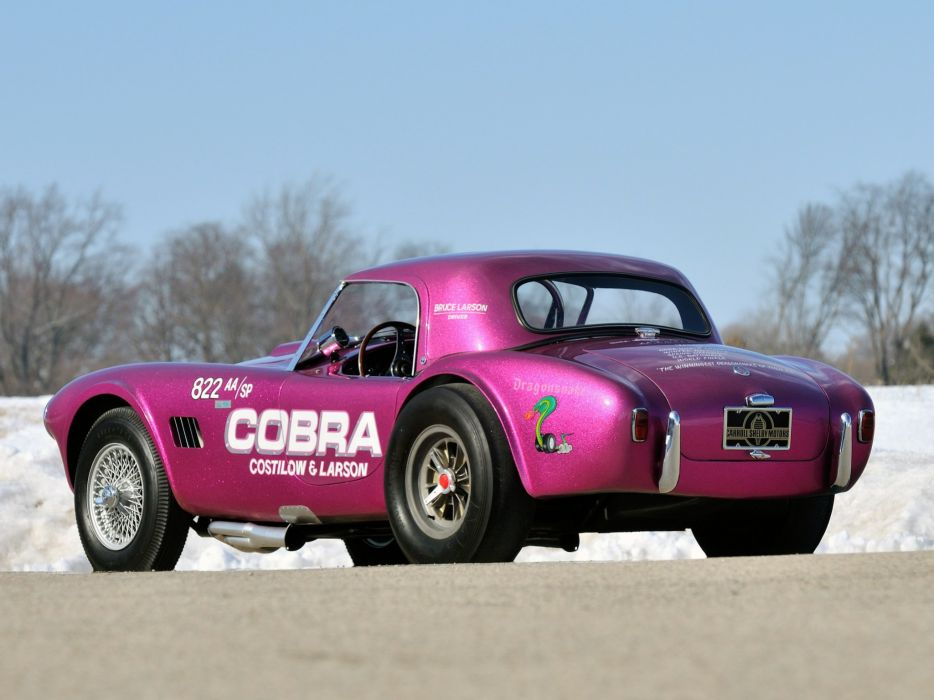 1963 Shelby Cobra Coupe Dragon Snake ford drag racing race hot rod rods muscle classic  f wallpaper