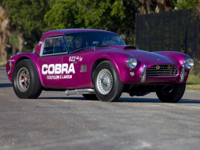 1963 Shelby Cobra Coupe Dragon Snake ford drag racing race hot rod rods muscle classic eq wallpaper