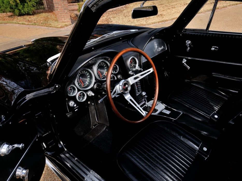 1964 Chevrolet Corvette StingRay L84 327 375HP Fuel Injection C-2 supercar muscle classic interior  f wallpaper