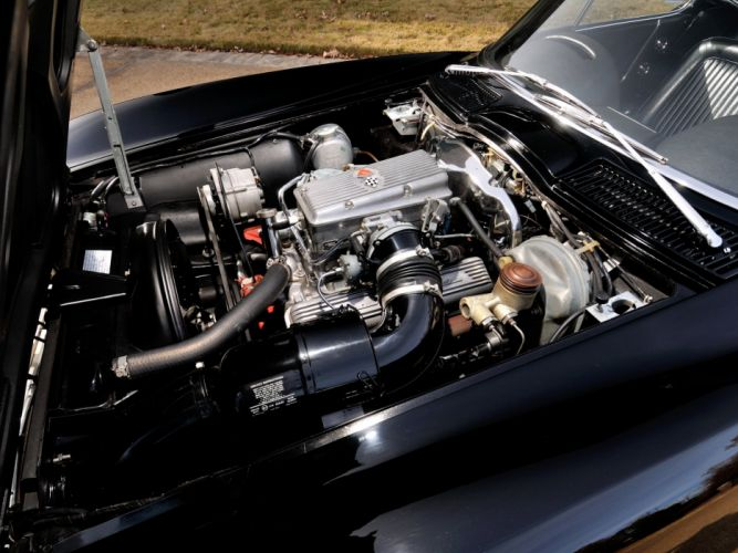 1964 Chevrolet Corvette StingRay L84 327 375HP Fuel Injection C-2 supercar muscle classic engine f wallpaper