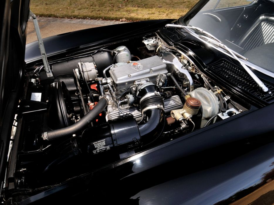 1964 Chevrolet Corvette StingRay L84 327 375HP Fuel Injection C-2 supercar muscle classic engine    f wallpaper