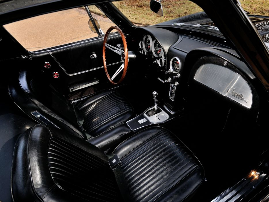 1964 Chevrolet Corvette StingRay L84 327 375HP Fuel Injection C-2 supercar muscle classic interior    f wallpaper