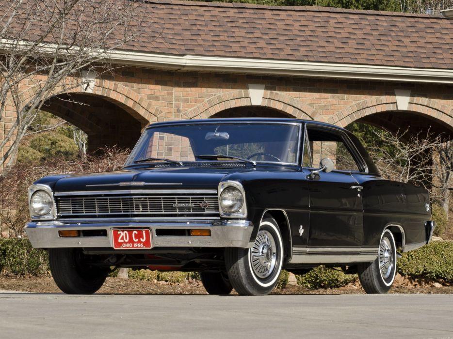 1966 Chevrolet Chevy I-I Nova S-S Hardtop Coupe 11737-11837 muscle classic v wallpaper