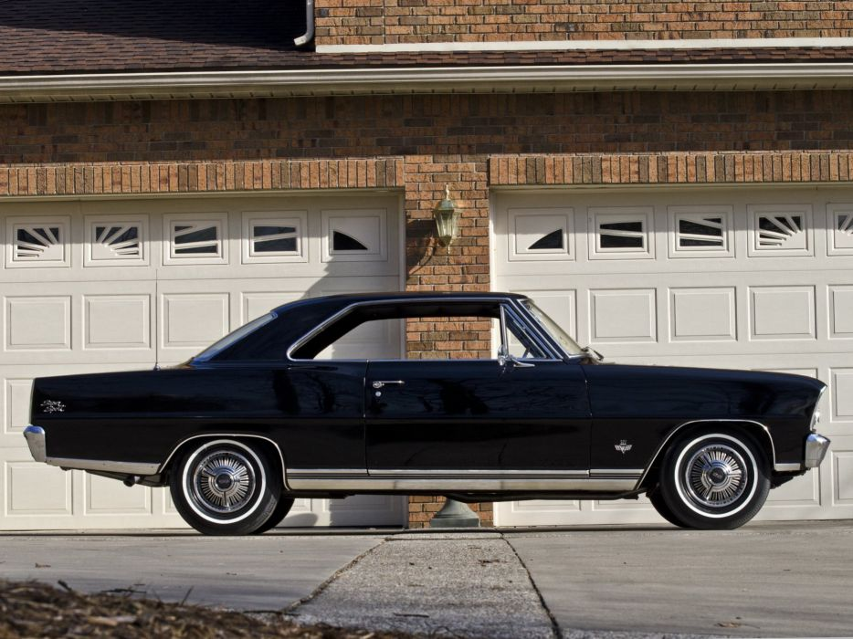 1966 Chevrolet Chevy I-I Nova S-S Hardtop Coupe 11737-11837 muscle classic   f wallpaper