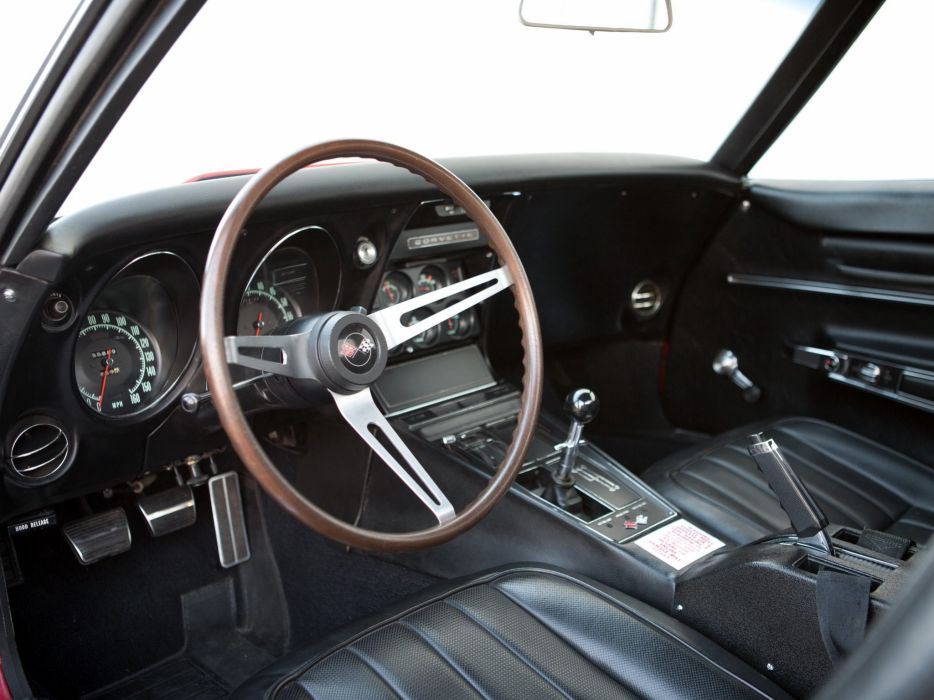 1968 Chevrolet Corvette L88 42 430HP C-3 supercar muscle classic interior         f wallpaper