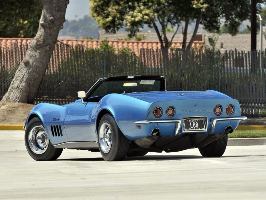 1969 Chevrolet Corvette Stingray L88 427 Convertible C-3 muscle supercar  r wallpaper