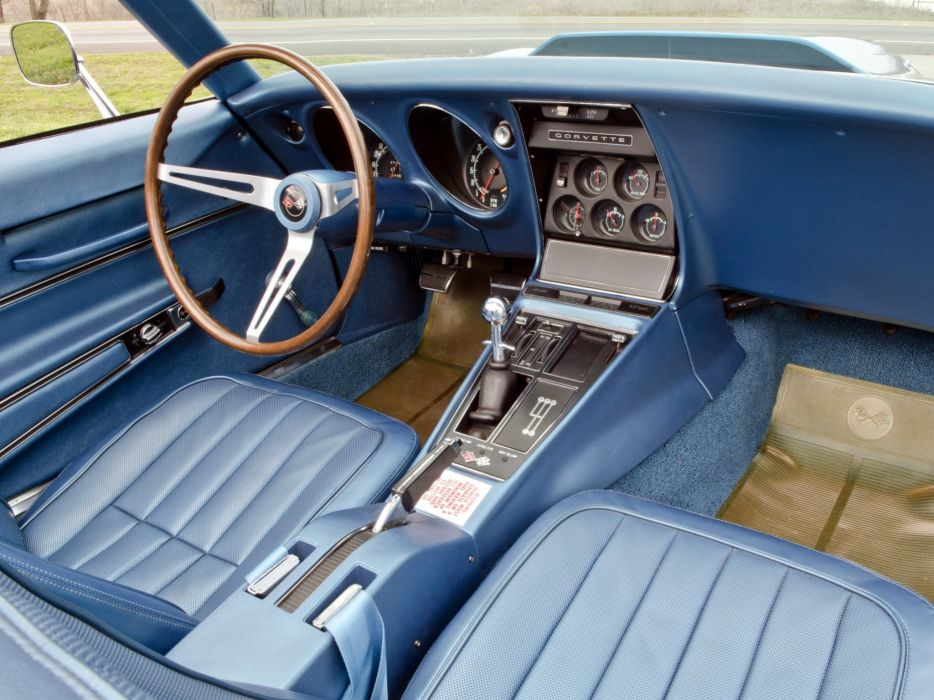 1969 Chevrolet Corvette Stingray L88 427 Convertible C-3 muscle supercar interior   f wallpaper