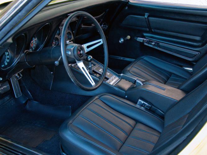 1969 Chevrolet Corvette Stingray L88 427 Convertible C-3 muscle supercar interior f wallpaper