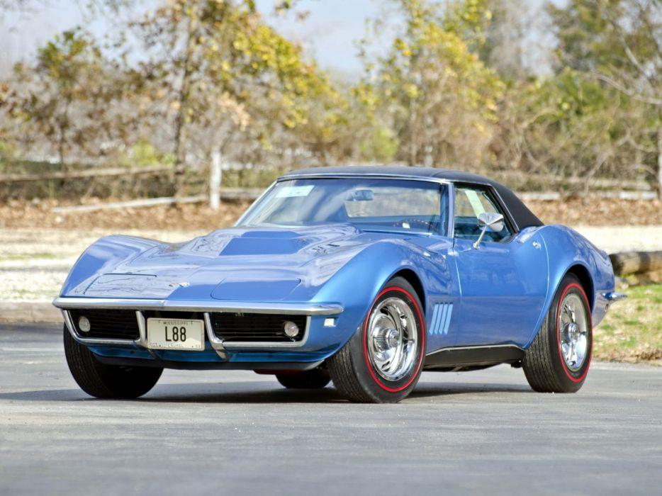 1969 Chevrolet Corvette Stingray L88 427 Convertible C-3 muscle supercar h wallpaper