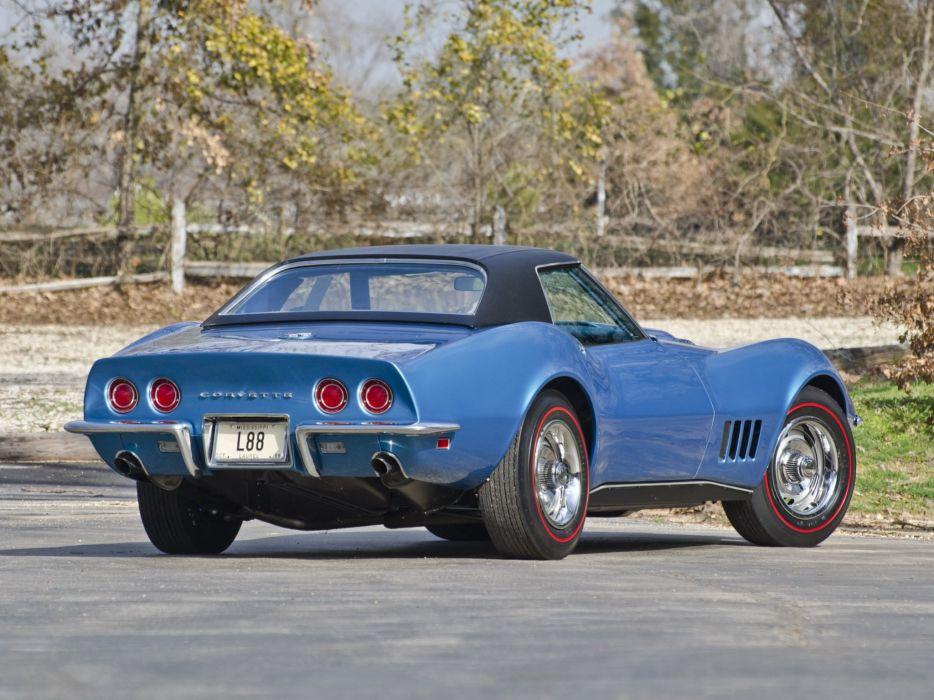 1969 Chevrolet Corvette Stingray L88 427 Convertible C-3 muscle supercar g wallpaper