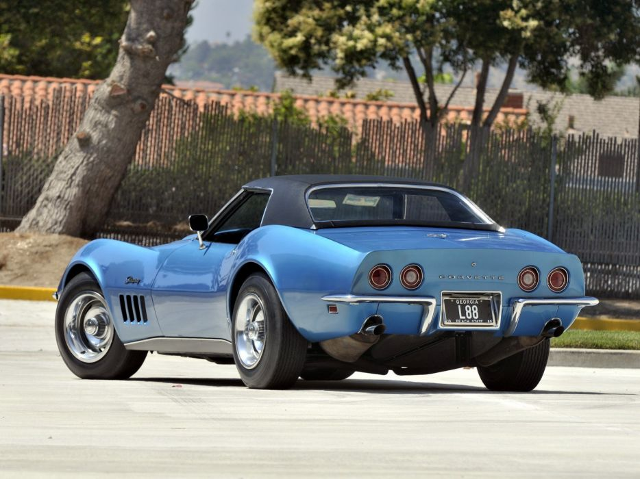 1969 Chevrolet Corvette Stingray L88 427 Convertible C-3 muscle supercar  f wallpaper