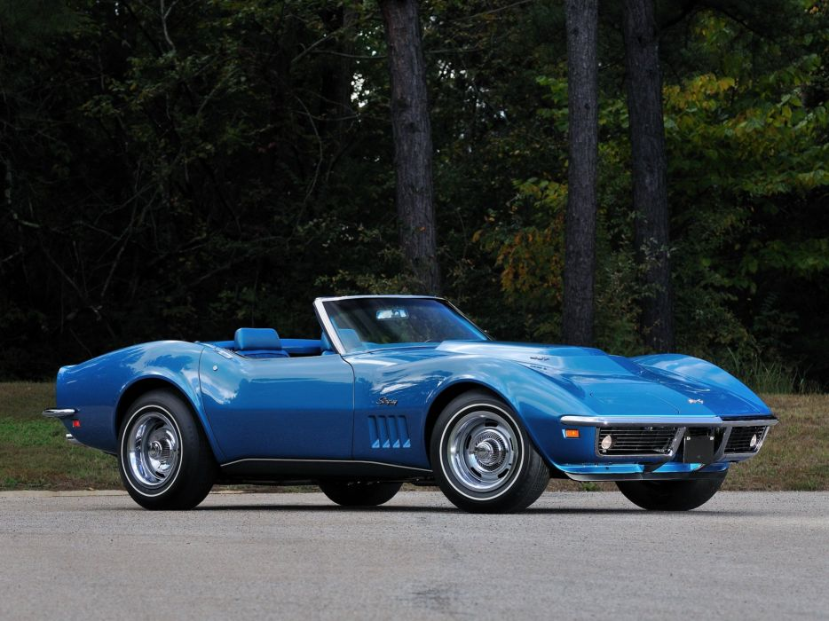 1969 Chevrolet Corvette Stingray L88 427 Convertible C-3 muscle supercar  ju wallpaper