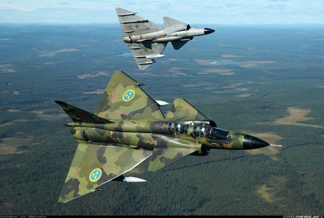 jet fghter saab swedem js37 wallpaper
